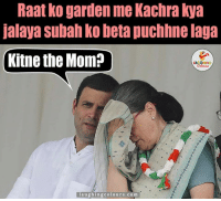 Pappu At His Funny Best.. :P: Raat ko garden me Kachra kya  jalaya Subahko beta puchhne daya  Kitne the Mom?  laughing colours.com Pappu At His Funny Best.. :P