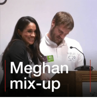 Whoops! Things didn't quite go to plan for Meghan Markle at an event last night, but Prince Harry's fiancée laughed off the awkward moment. She was presenting awards at the Endeavour Fund ceremony, celebrating the achievements of wounded and sick servicemen and women. The audience loved Meghan's reaction when the mix-up happened. meghanmarkle princeharry royalwedding royalfamily smile laugh bbcnews: Rab  C2R  Meghan  mix-up Whoops! Things didn't quite go to plan for Meghan Markle at an event last night, but Prince Harry's fiancée laughed off the awkward moment. She was presenting awards at the Endeavour Fund ceremony, celebrating the achievements of wounded and sick servicemen and women. The audience loved Meghan's reaction when the mix-up happened. meghanmarkle princeharry royalwedding royalfamily smile laugh bbcnews