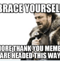 Thank You Meme: RACE  YOURSEL  ORE THANKYOU MEME  THISWAY  ARE HEAD
