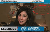<p>How to put the human centipede on prime time.</p>: RACHEL MADDOW  msnbc  EXCLUSIVE  SARAH SILVERMAN  ACTRESS AND COMEDIAN <p>How to put the human centipede on prime time.</p>