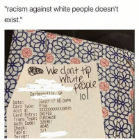 racism against whites