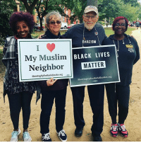 Black Lives Matter, Black Lives Matter, and Memes: RACISM  My Muslim  Neighbor  BLACK LIVES  MATTER  GUTS  ShowingUpForRacialustice.org 9-  ShowingUpForRacialJustice.org This is what intersectionality looks like! ✊🏾✊🏾 Picture taken at the MarchForRacialJustice in Washington DC. PC: @calendow - BlackLivesMatter NoMuslimBan