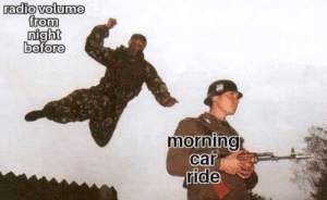 Radio, MeIRL, and Car: radio volume  from  0  0  0  0  morning  car  ride  0 meirl