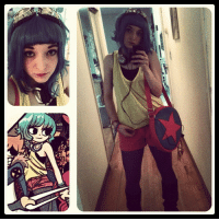 Instagram, Love, and Taken: radiomaru:  supatuna:  My outfit for this weekend at the Cherry Blossom Festival (Taken with instagram)  so cool. I love when cosplayers do this one.