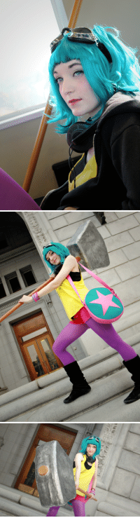 Another One, Cute, and Food: radiomaru: supatuna:   So I went to the Cherry Blossom Festival in my Ramona Flowers cosplay and I had a great time. I'm so happy my hammer came out so well so quickly. It took me about 2 days o make and it looked pretty good if I don't say so myself. :3  My sisters and my friends had a lot of fun just hanging around Japan Town and taking in the sites. We ate sooooo much food! Crepes, Juban, snacks and more. I'm stuffed still!! We took pictures at Pika Pika and goofed off around the sites. Next time we probably won't go to the Parade but just hang around Japan Town and do more photos. :) All in all, a great experience. I'm so happy I could participate this time around.    so cute! remember i reblogged another one of her the other day?