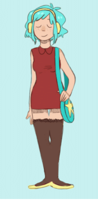 Anaconda, Cute, and Target: radiomaru2:  frecklesandsuch:  Foolin around with ideas for the contest majig  This one is perfectly sweet and cute and girly and nice. Despite the lack of her usual trappings, it somehow still feels 100% Ramona-like. I like it!