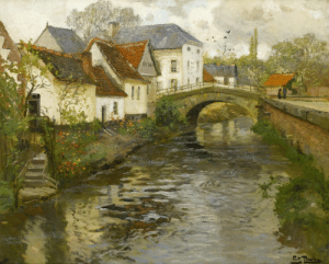 radstudies:  Frits Thaulow (Norwegian, 1847-1906) Small Town near La Panne, Belgium : radstudies:  Frits Thaulow (Norwegian, 1847-1906) Small Town near La Panne, Belgium