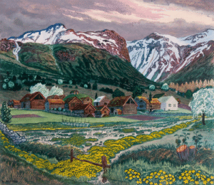 radstudies:Nikolai Astrup (Norwegian, 1880-1928) - Marsh Marigold Night, c.1915: radstudies:Nikolai Astrup (Norwegian, 1880-1928) - Marsh Marigold Night, c.1915