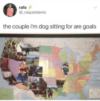 Goals, Memes, and Ocean: rafa  @_raquelalexis  the couple i'm dog sitting for are goals  CANA D A  ATLANTIC  OCEAN  UNITED STAT  GULF 😍😍