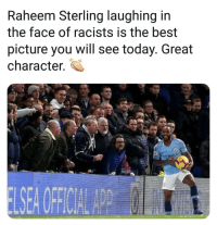 F$%K Racism 🤙😂✊🏼: Raheem Sterling laughing in  the face of racists is the best  picture you will see today. Great  character. F$%K Racism 🤙😂✊🏼