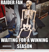 Raiders Fans Keep Waiting!