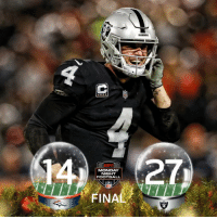 FINAL: The @Raiders win on Christmas Eve! #RaiderNation  #DENvsOAK (by @Lexus) https://t.co/bMbJHuIvob: RAIDERS  MONDAY  NIGHT  FOOTBALL  NFL  FINAL FINAL: The @Raiders win on Christmas Eve! #RaiderNation  #DENvsOAK (by @Lexus) https://t.co/bMbJHuIvob