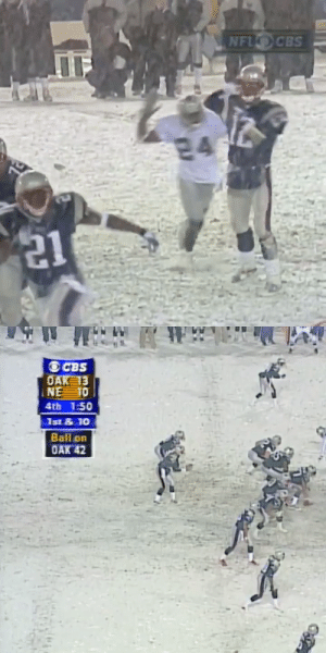 .@Raiders. @Patriots. A 2001 playoff matchup for the ages.  Rewatch the Tuck Rule game tonight at 10pm ET on @CBSSportsNet! https://t.co/lMzLJUrh4d: .@Raiders. @Patriots. A 2001 playoff matchup for the ages.  Rewatch the Tuck Rule game tonight at 10pm ET on @CBSSportsNet! https://t.co/lMzLJUrh4d