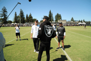 Spotted on the first episode of #HardKnocks: @G_Eazy! https://t.co/kW4yjBdWWB: RAIDERS Spotted on the first episode of #HardKnocks: @G_Eazy! https://t.co/kW4yjBdWWB