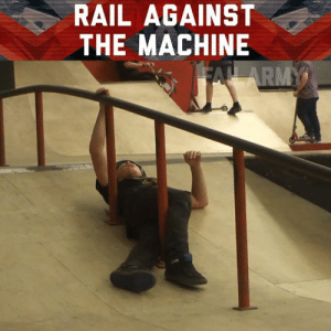 We've got bars!: RAIL AGAINST  THE MACHINE We've got bars!
