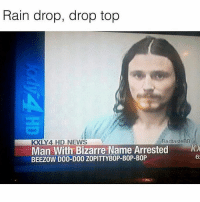 Rain drop .. drop top 😂☔️ WSHH: Rain drop, drop top  Bad tasteBB  KXLY 4 HD NEWS  Man With Bizarre Name Arrested  BEEZOW DOO-DOO ZOPITTYBOP-BOP-BOP  62 Rain drop .. drop top 😂☔️ WSHH