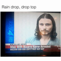 This is amazing | 👉 @badtastebb for the best memes 🔥: Rain drop, drop top  KXLY4 HD NEWS  BadtasteBB  Man With Bizarre Name Arrested x  BEEZOW D00-D00 ZOPITTYBOP-BOP-BOP  6:3 This is amazing | 👉 @badtastebb for the best memes 🔥