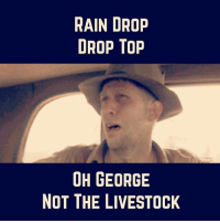 @countryamerica 😂: RAIN DROP  DROP Top  OH GEORGE  NOT THE LIVESTOCK @countryamerica 😂