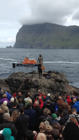 rainbow-femme: smatter:  otto-mandias:  corseque:  poplitealqueen:  tuulikki:  heathyr:  legalizememes: bruh everything about this… this statue, the choppy waves, the cliffs behind her, the echo, the drumming….. aesthetic   Lyrics in Faroese: Trøllabundin eri eg eri egGaldramaður festi meg festi megTrøllabundin djúpt í míni sál í míni sálÍ hjartanum logar brennandi bál brennandi bál Trøllabundin eri eg eri egGaldramaður festi meg festi megTrøllabundin inn í hjartarót í hjartarótEyga mítt festist har ið galdramaður stóð English translation: Spellbound am I, am IThe wizard has enchanted me, enchanted meSpellbound deep in my soul, in my soulIn my heart burns a smouldering fire, smouldering fire Spellbound am I, am IThe wizard has enchanted me, enchanted meSpellbound in my heart's root, my heart's root  Did anyone else just get the shivers? Cuz I'm definitely getting the shivers.  Btdubs, the singer is Eivør Pálsdóttir.   Reblogging again for the haunting wizard lyrics  shoutout to the faroe island for being the only real viking island left   I know the islands are owned by Denmark but this reminds me so much of Iceland   Fun fact this woman is trying to single handedly preserve this kind of singing in her culture by performing and making people aware of it because it's been fading with time and she's afraid if she doesn't spread it it will disappear and be lost to future generations  : rainbow-femme: smatter:  otto-mandias:  corseque:  poplitealqueen:  tuulikki:  heathyr:  legalizememes: bruh everything about this… this statue, the choppy waves, the cliffs behind her, the echo, the drumming….. aesthetic   Lyrics in Faroese: Trøllabundin eri eg eri egGaldramaður festi meg festi megTrøllabundin djúpt í míni sál í míni sálÍ hjartanum logar brennandi bál brennandi bál Trøllabundin eri eg eri egGaldramaður festi meg festi megTrøllabundin inn í hjartarót í hjartarótEyga mítt festist har ið galdramaður stóð English translation: Spellbound am I, am IThe wizard has enchanted me, enchanted meSpellbound deep in my soul, in my soulIn my heart burns a smouldering fire, smouldering fire Spellbound am I, am IThe wizard has enchanted me, enchanted meSpellbound in my heart's root, my heart's root  Did anyone else just get the shivers? Cuz I'm definitely getting the shivers.  Btdubs, the singer is Eivør Pálsdóttir.   Reblogging again for the haunting wizard lyrics  shoutout to the faroe island for being the only real viking island left   I know the islands are owned by Denmark but this reminds me so much of Iceland   Fun fact this woman is trying to single handedly preserve this kind of singing in her culture by performing and making people aware of it because it's been fading with time and she's afraid if she doesn't spread it it will disappear and be lost to future generations