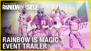 Your mission: rescue the VIP teddy bear hostage 🌈🐻  This is not a joke. Play Rainbow Six Siege's Rainbow is Magic event through April 8.: RAINBOW): |SIEGE  RAINBOW IS MAGIC  EVENT TRAILER Your mission: rescue the VIP teddy bear hostage 🌈🐻  This is not a joke. Play Rainbow Six Siege's Rainbow is Magic event through April 8.