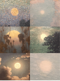 rainh: a collection of moons, seen at the high museum of art.: rainh: a collection of moons, seen at the high museum of art.