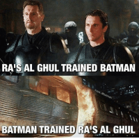 I hate myself for chuckling at this. I just... why do I like puns so much?! Why @Batman?! -- 🚨 And be sure to listen to the latest episode of Blerd Vision [LINK IN BIO] for our JohnWick2 Review and more Batman news!: RAIS AL GHUL TRAINED BATMAN  BATMAN TRAINED RAIS AL GHUL I hate myself for chuckling at this. I just... why do I like puns so much?! Why @Batman?! -- 🚨 And be sure to listen to the latest episode of Blerd Vision [LINK IN BIO] for our JohnWick2 Review and more Batman news!