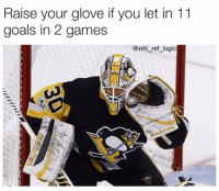 Back to Back, Goals, and Logic: Raise your glove if you let in 11  goals in 2 games  @nhl ref logic When you hear people calling Matt Murray a back to back champion they're referring to these last two games