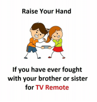 tv remote: Raise Your Hand  If you have ever fought  with your brother or sister  for TV Remote