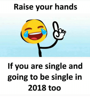 Happy New Year MeMe 2019 !!! Most Funny Happy New Year Memes For ...: Raise your hands  If you are single and  going to be single in  2018 todo Happy New Year MeMe 2019 !!! Most Funny Happy New Year Memes For ...