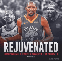 Kevin Durant claims the Warriors are better than ever. 👀: Rakuten  Rakuten  35  REJUVENATED  HOW KEVIN DURANT DESCRIBES THE WARRIORS AFTER A ROUGH WEEK  H/T NICK FRIEDELL Kevin Durant claims the Warriors are better than ever. 👀