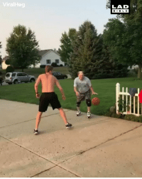 Basketball, Memes, and 🤖: ralHeg  LAD  BIB LE 'My grandad absolutely humiliated my friend playing basketball' 😂😂