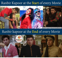 'Romance-Breakup-Patchup'..who knows it better than Ranbir Kapoor Himself...;) :): Ranbir Kapoor at the Start of every Movie  Col urs.com  laughing  Ranbir kapoor at the End of every Movie  LA GRING 'Romance-Breakup-Patchup'..who knows it better than Ranbir Kapoor Himself...;) :)