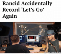 "Memes, Forever, and Record: Rancid Accidentally  Record ""Let's Go  Again  Full story: thehardtimes.net ""How do you tell someone you've known forever that they accidentally recorded the same thing they made 24 years ago?"""