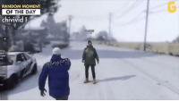 Video Games, Gta, and Random: RANDOM MOMENT  OF THE DAY  chivivid I How every snowball fight in GTA ends... 😂 #RandomMomentOfTheDay
