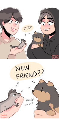 randomsplashes:  yeontan and eomuk meeting for the first time (twitter): RANDOM  SPLASHES   NEW  FRIEND?  SNIFF  SNIFF  RANDOM  SPLASHES randomsplashes:  yeontan and eomuk meeting for the first time (twitter)