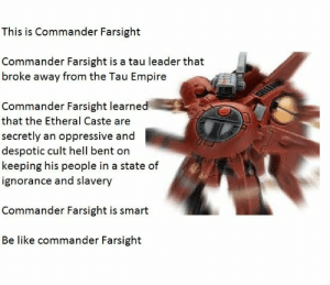randomtechpriest:  Farsight did nothing wrong!: randomtechpriest:  Farsight did nothing wrong!