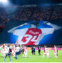 Football, Memes, and Link: randstad  ABN  EGON  EGON  0 Brilliant display from Ajax fans in support of Adbelhak Nouri last night against Nice. 👏🏼 🔺FREE LIVE FOOTBALL APP -> LINK IN BIO!! Follow ➡️ @bestfootballjokes