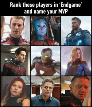 Dank, Change, and Mind: Rank these players in 'Endgame'  and name vour MVP  @96 Ratata is the MVP. Change my mind.