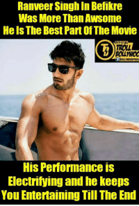 Ranveer Singh (y)  #Dhondu: Ranveer Singh In Befikre  Was More Than Awsome  Heels The Best PartofThe Movie  FFICIAL  TROLL  BOLL MW00  HIS Performance IS  Electrifying and he keeps  You Entertaining Till The End Ranveer Singh (y)  #Dhondu