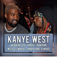 Kanye West is currently is Miami working on his new album, along with other big artists. ⁣ -⁣ Lil Wayne, 2 Chainz, Timbaland, & Migos have been spotted in Miami working with Ye. Tee Grizzley and YNW Melly were seen as well.⁣ -⁣ According to sources close to Ye, one of the reasons Ye purchased the $14M condo in Miami is to work on his new album.⁣ -⁣ RapTVSTAFF: @thatkidcm⁣ 📸 @eyekon_photography ⁣: @rap  KANYE WEST  WORKING ON YANDHI IN MIAMI  WITH LIL WAYNE TIMBALAND, & MORE Kanye West is currently is Miami working on his new album, along with other big artists. ⁣ -⁣ Lil Wayne, 2 Chainz, Timbaland, & Migos have been spotted in Miami working with Ye. Tee Grizzley and YNW Melly were seen as well.⁣ -⁣ According to sources close to Ye, one of the reasons Ye purchased the $14M condo in Miami is to work on his new album.⁣ -⁣ RapTVSTAFF: @thatkidcm⁣ 📸 @eyekon_photography ⁣