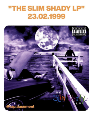 """rapbasement:  Today in 1999, Eminem released his debut album """"The Slim Shady LP"""". A legendary album from the first white rapper in history, launched by maybe the biggest name of that period """"Dr. Dre"""".   We can't choose some of the bast tracks, you need to listen to this project from start to finish. 🎧   Unquestionable a classic, everybody needs to listen to this album! 🔥   Rap Basement. Your daily dose of rap shit! 💿  https://www.instagram.com/p/B857pucJLCz/?igshid=1ue0p2sdryrd8: rapbasement:  Today in 1999, Eminem released his debut album """"The Slim Shady LP"""". A legendary album from the first white rapper in history, launched by maybe the biggest name of that period """"Dr. Dre"""".   We can't choose some of the bast tracks, you need to listen to this project from start to finish. 🎧   Unquestionable a classic, everybody needs to listen to this album! 🔥   Rap Basement. Your daily dose of rap shit! 💿  https://www.instagram.com/p/B857pucJLCz/?igshid=1ue0p2sdryrd8"""