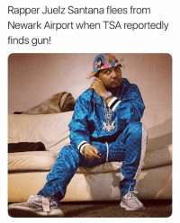 """NEWARK, N.J. — Rapper JuelzSantana fled from Newark Airport Friday night when TSA agents found a gun on him at security. According to sources, the Harlem rapper attempted to go through security at Terminal C with a gun. The gun was detected and Santana ran from the airport, possibly jumping in a cab."" 😳👀 @pix11news @thejuelzsantana WSHH: Rapper Juelz Santana flees from  Newark Airport when TSA reportedly  finds gun! ""NEWARK, N.J. — Rapper JuelzSantana fled from Newark Airport Friday night when TSA agents found a gun on him at security. According to sources, the Harlem rapper attempted to go through security at Terminal C with a gun. The gun was detected and Santana ran from the airport, possibly jumping in a cab."" 😳👀 @pix11news @thejuelzsantana WSHH"