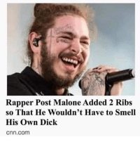 cnn.com, Flexing, and Memes: Rapper Post Malone Added 2 Ribs  so That He Wouldn't Have to Smell  His Own Dick  cnn.com weird flex but ok