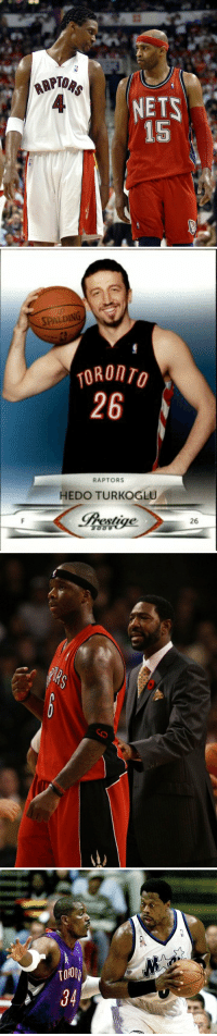 Kris Humphries, Memes, and The Worst: RAPT  4  NETS  15   SPALDING  TORONTO  26  RAPTORS  HEDO TURKOGLU  pestige  26 Some of the worst trades In Raptors History:   - Vince Carter for Alonzo Mourning, 2 Williams & 2 draft picks. - TJ Ford, Rasho & Maceo for Jermaine O'Neal  - Shawn Marion & Kris Humphries for Hedo Turkoglu - 1st & 2nd round pick for Hakeem Olajuwon https://t.co/ZuZm00goIW