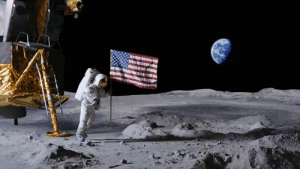 Rare footage has been released of Neil Armstrong planting flags all over the solar system: Rare footage has been released of Neil Armstrong planting flags all over the solar system