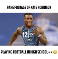"RARE FOOTAGE OF NATE ROBINSON  RE  PLAYING FOOTBALL INHIGHSCHOOL  e Nate Robinson Played Football😦🔥 - 📽: @oopings Comment ""Juke"" letter by letter without being interrupted! - Follow (me) @overtimeplayz for more!"