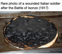 Sent in by a fan! #krisz: Rare photo of a wounded Italian soldier  after the Battle of Isonzo (1917)  Opatrickap Sent in by a fan! #krisz