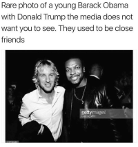 "Donald Trump, Fake, and Friends: Rare photo of a young Barack Obama  with Donald Trump the media does not  want you to see. They used to be close  friends  gettyimages  Evan Agostin <p><a href=""http://memehumor.net/post/164533438130/shame-on-you-fake-news"" class=""tumblr_blog"">memehumor</a>:</p>  <blockquote><p>Shame On You, Fake News</p></blockquote>"