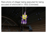 You don't see these pictures in history books: Rare photo of villager being executed for being  accused of witchcraft in 1652 (Colorized) You don't see these pictures in history books