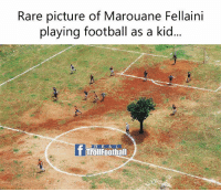 😂😂😂: Rare picture of Marouane Fellaini  playing football as a kid  R E A L  T Troll Football 😂😂😂